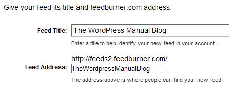 Je nieuwe Feed URL