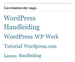 WordPress gerelateerde Tags