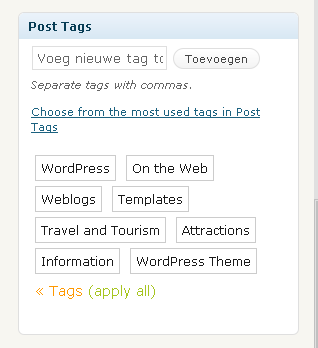 Het belang van Tags in WordPress
