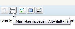 De WordPress More Tag